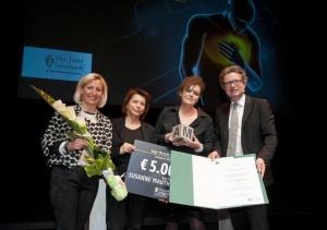 Verleihung des Inge-Morath-Preis des Landes Steiermark (v.l.n.r.): LAbg.  Kristina Edlinger-Ploder, Laudatorin Anna Badora, Susanne Mauthner-Weber, LR Christopher Drexler - Foto: /Christopher Drexler/ Foto Krug